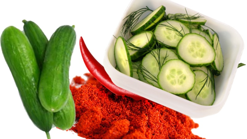 cayenne pepper and cucumber salad