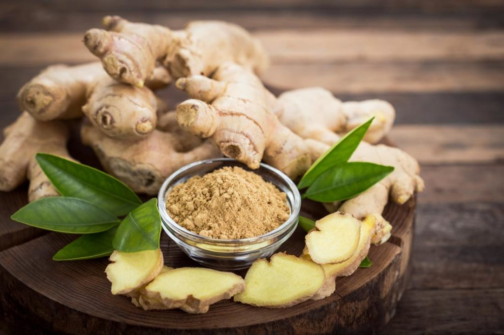 ginger to cure bacterial infection in the stomach