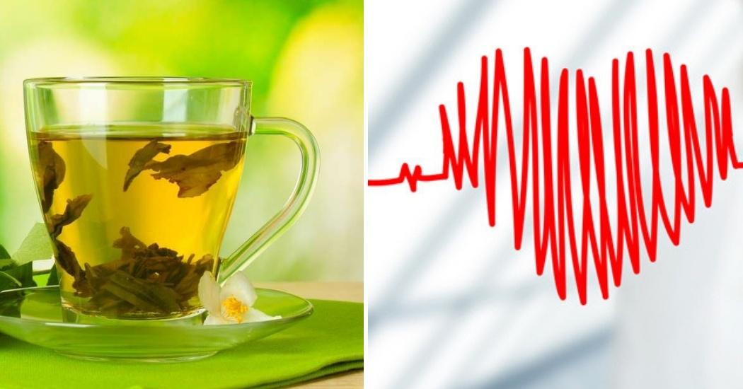 green tea causes irregularity in cardiac rhythm