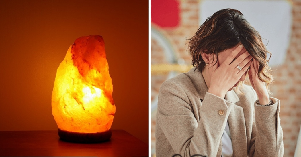 himalayan salt Lamp for reduce stress and anxiety