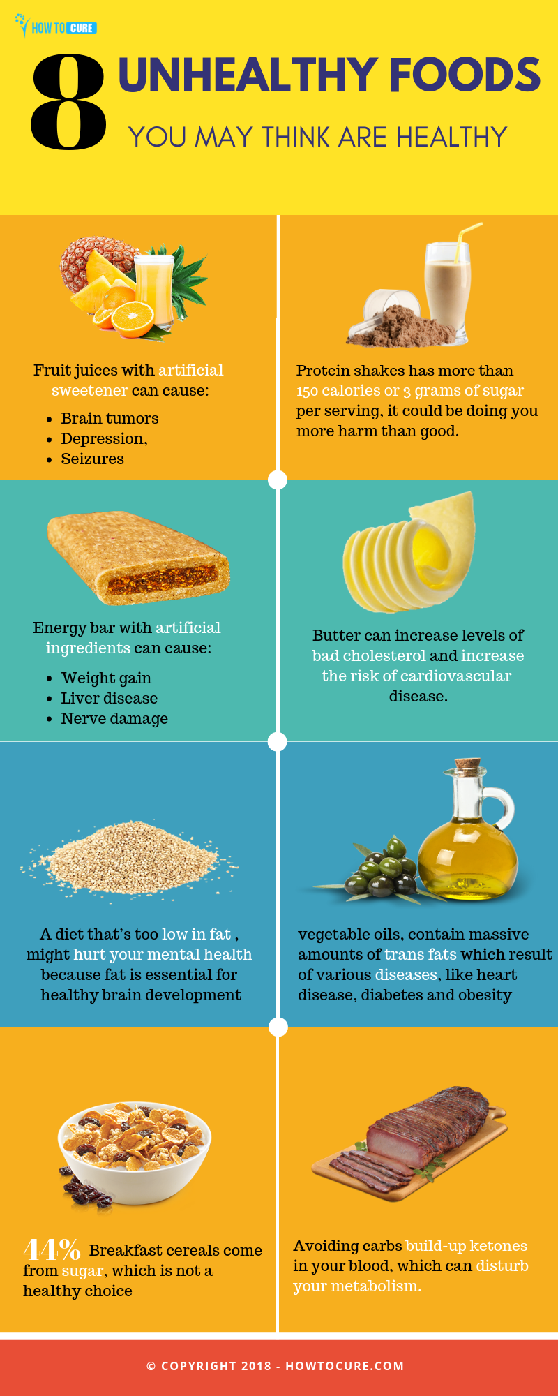 unhealthy foods you may think it is healthy