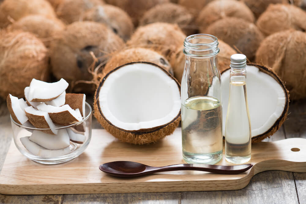 coconuts and oil